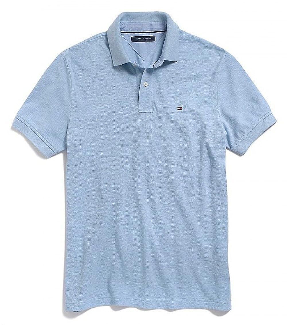 Tommy Hilfiger para Hombre Custom Fit Polo de Color sólido Camisa ...