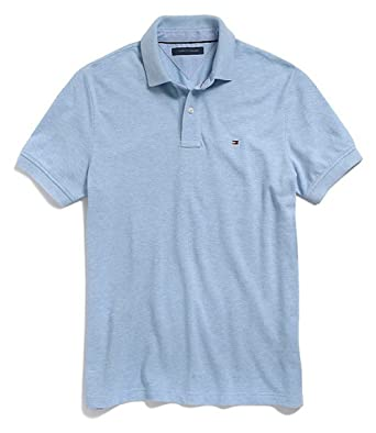 Tommy Hilfiger para Hombre Custom Fit Polo de Color sólido Camisa ...