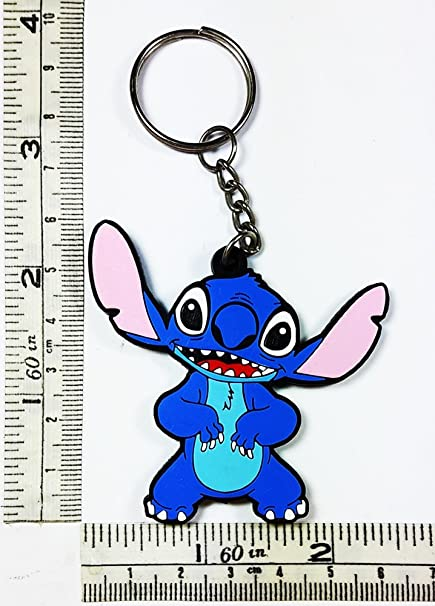 Disney Lilo y Stitch Cartoon Kid llavero llavero de goma ...