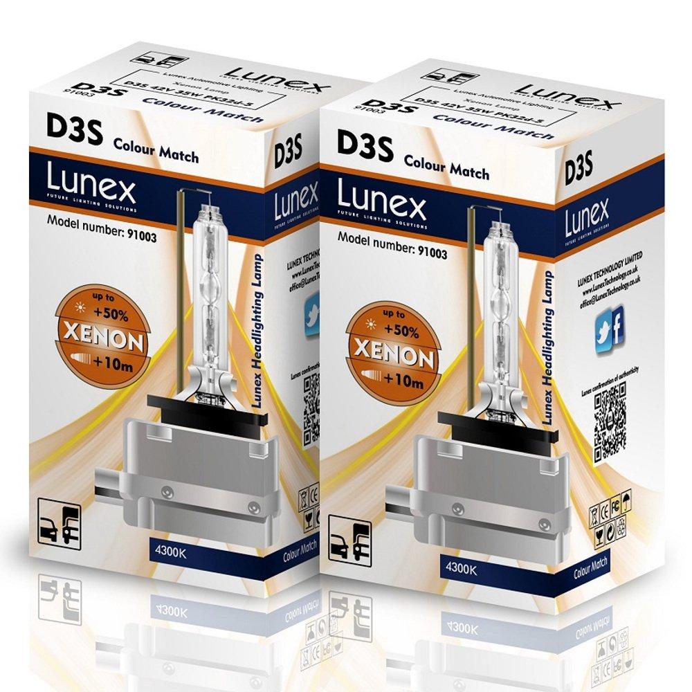 Lunex D3S Xenarc Phare Lampe au xé non ampoule de rechange (4300K) 91003