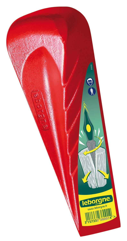 Leborgne Coin éclateur rouge, Forme hélicoïdale, Acier forgé trempé, Pour  bois dur et 861e684e8f4