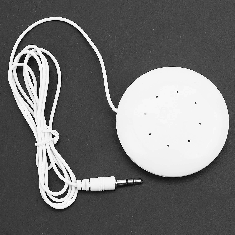 SODIAL White 3.5mm Oreiller Haut-Parleur pour Lecteur Mp3 Mp4 Toucher Radio CD