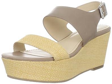 94d528d59a Calvin Klein Women's Lorianne Platform Sandal,Light Natural/Light Taupe, ...