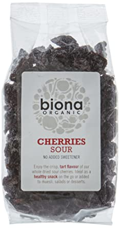 Biona Organic Dried Sour Cherries 100g (Pack of 3)