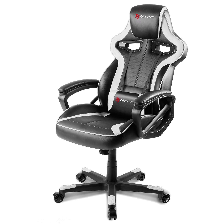 Tremendous Arozzi Milano Enhanced Gaming Chair White Inzonedesignstudio Interior Chair Design Inzonedesignstudiocom