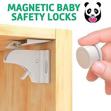 16 Cerraduras Invisible Magnetica Puertas Cajones Muebles Seguridad Bebes Niños