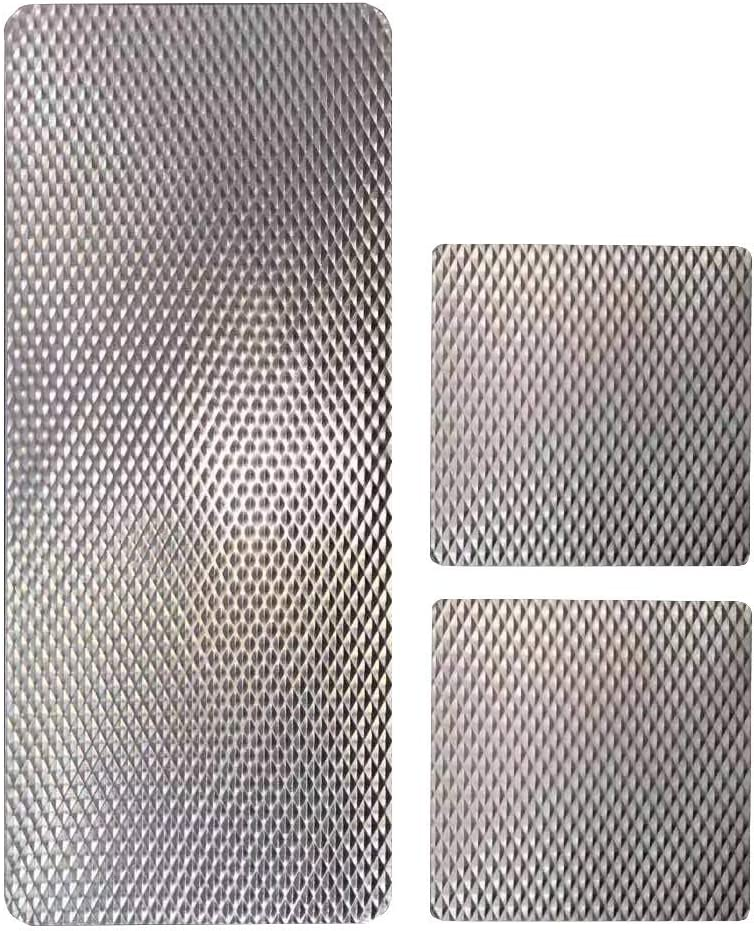 EZ KITCHEN 3 PCS Silver Insulated Counter Mat, Heat Resistant Table Protector Mat