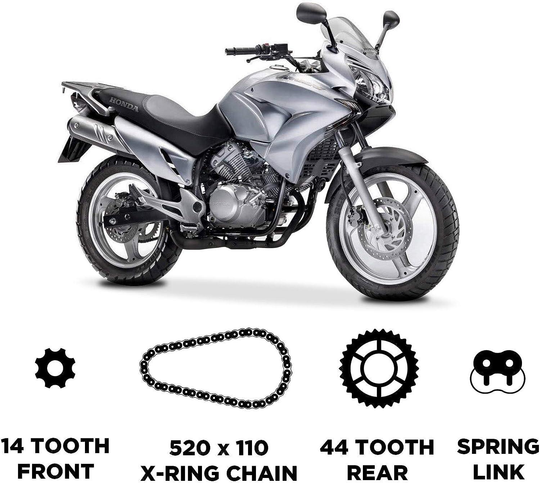D.I.D Cha/îne et JT Carbon Steel Sprocket Kit pour Honda XL 125 Varadero 2002-2013