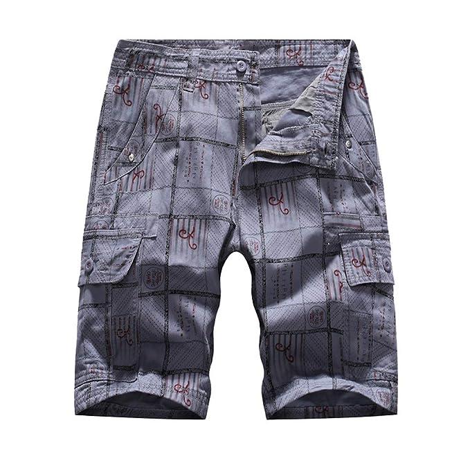 Pantalones Cortos de Bolsillo para Hombre Pantalones ...
