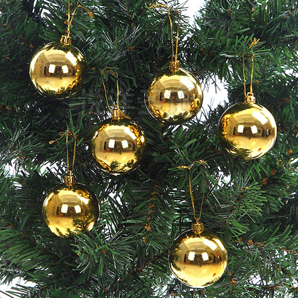 Bluelans Christmas Decorations, 6/12Pcs Glittering Baubles Balls Christmas Tree Ornament Party Hanging Decor Xmas Gifts Xmas Stocking Fillers