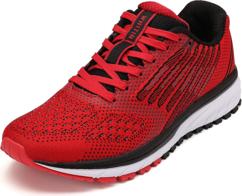 WHITIN Zapatillas de Deporte Hombres Mujer Running Zapatos para Correr Gimnasio Sneakers Deportivas Rojo 45: Amazon.es: Zapatos y complementos