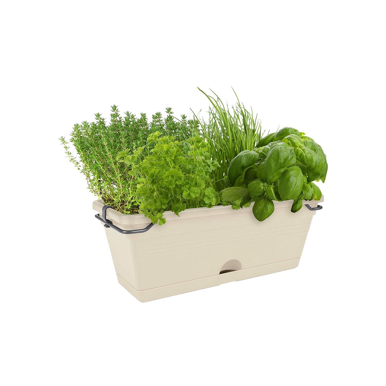 29,8x11,9x10,6 cm Cotton White 1.2 litros elho Green Basics Trough Mini Jardinera Blanco