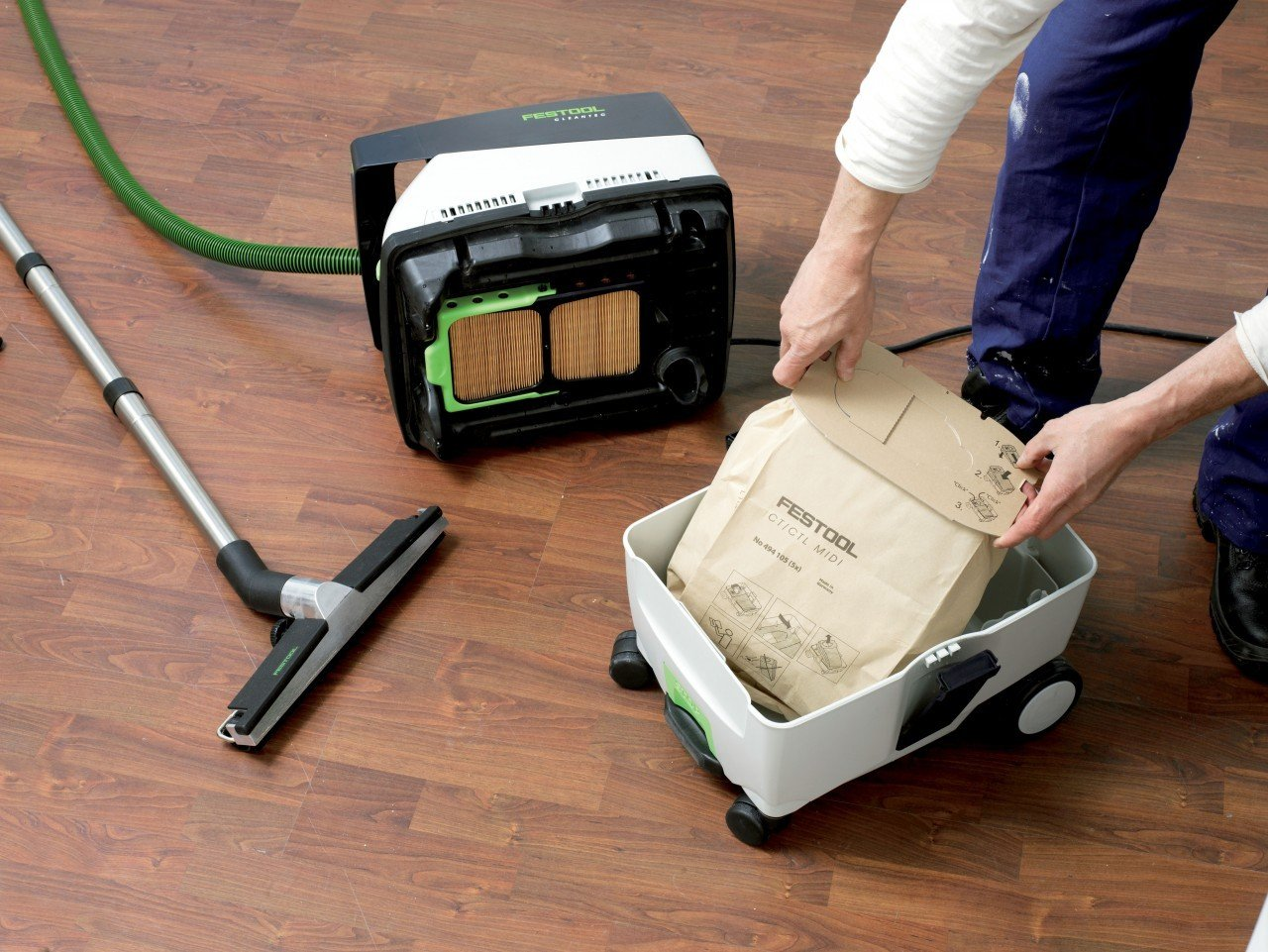 Festool PI574432 Domino Mortise and Tenon Joiner Set with CT MIDI HEPA 3.3 Gallon Mobile Dust Extractor