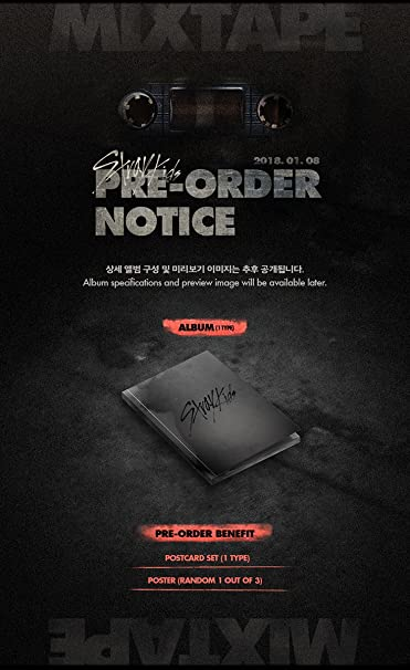 STRAY KIDS - Mixtape (Debut Album) CD + Official Folded Poster + Extra  Photocard