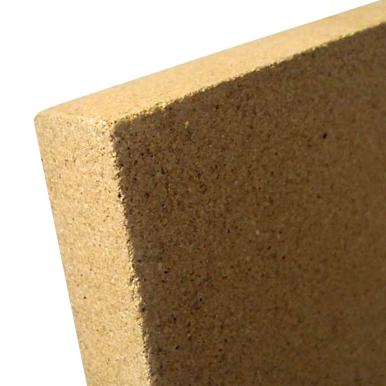 stufa camino fodera terre earphonesplus 30 mm 400 x 300 mm piastra Vermiculite