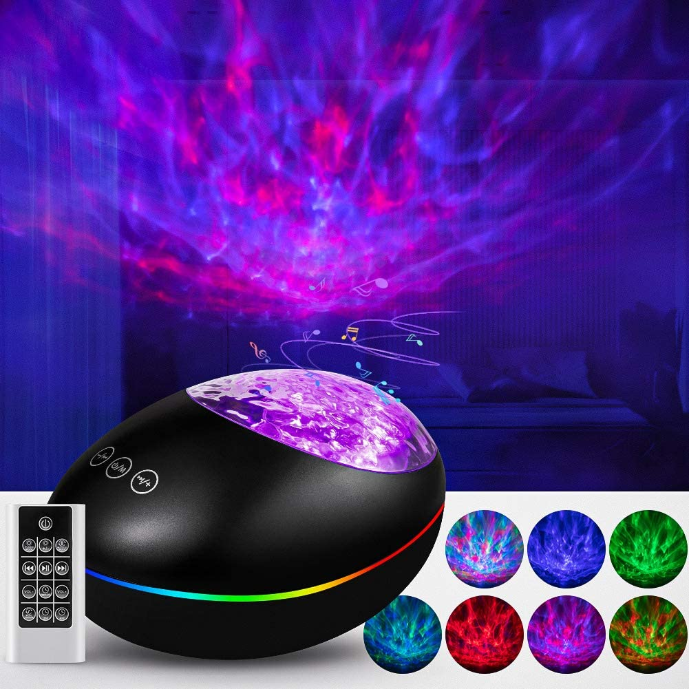 Galaxy Projector Star Light Projector for Bedroom, Skylight for Adults Kids Birthday Christmas Gift, Ocean Wave Sky Lights Room Cove Ceiling Party Decor with Bluetooth Speaker Remote Control