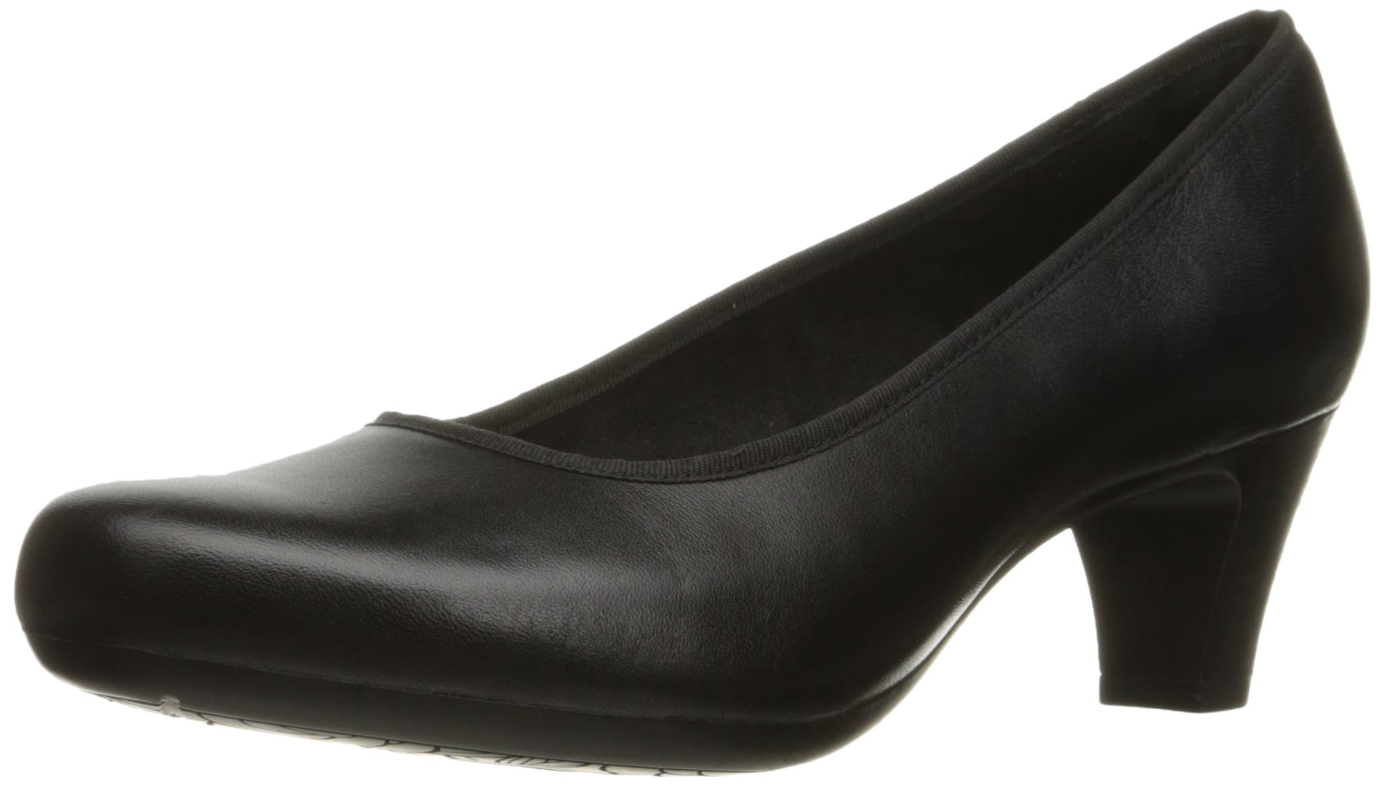 Rockport Women's Hezra Dress Pump, Black Leather, 11 M US