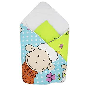 78 x 78 cm Perfect for Prams /& Cots Grey Unicorn Sleeping Bag for Newborns BlueberryShop Cotton Baby Swaddle Wrap Car Seat Blanket Intended for Kids Aged 0-3 Months