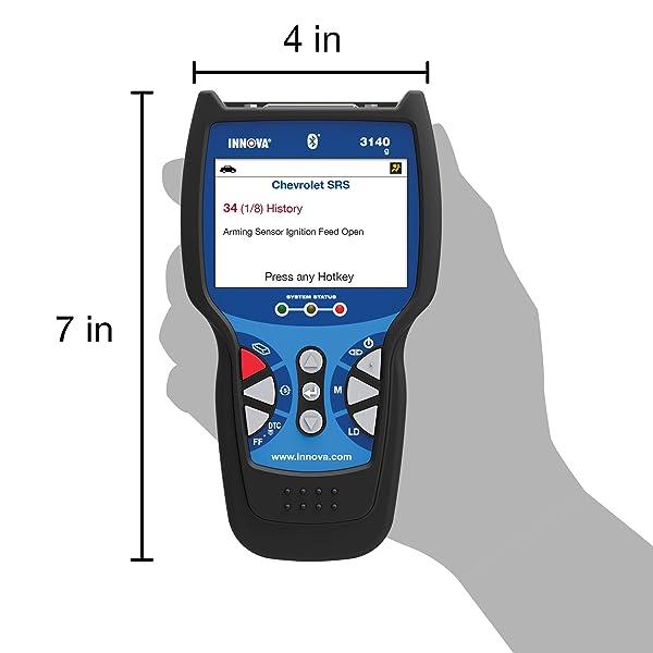 the INNOVA 3140g has an OBD 1 diagnostics kit to diagnose older vehicle models.