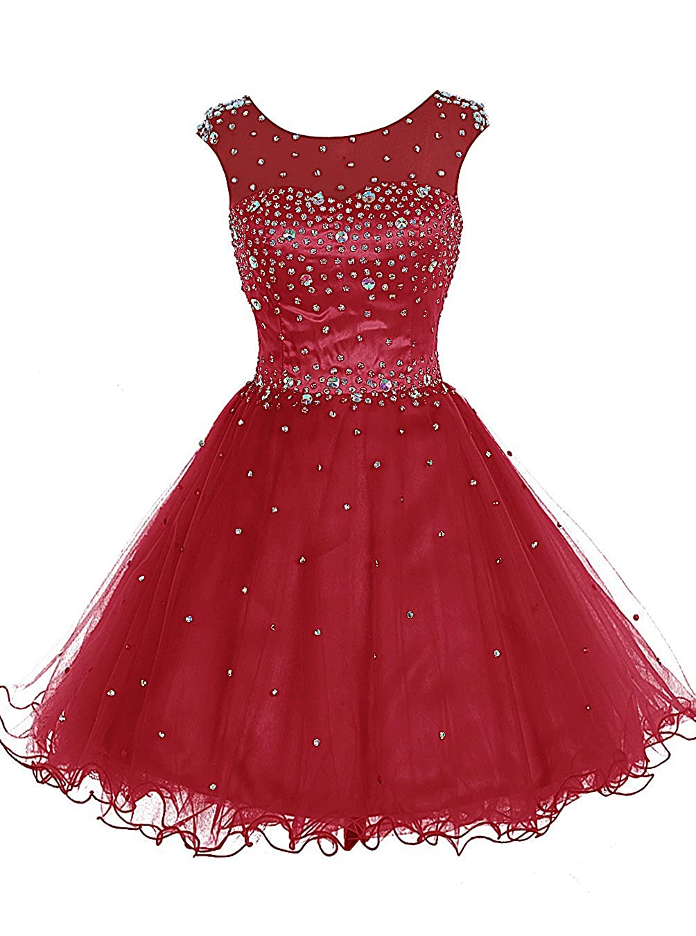 Red TideClothes Women's Beaded Homecoming Dress Short Party Prom Gowns