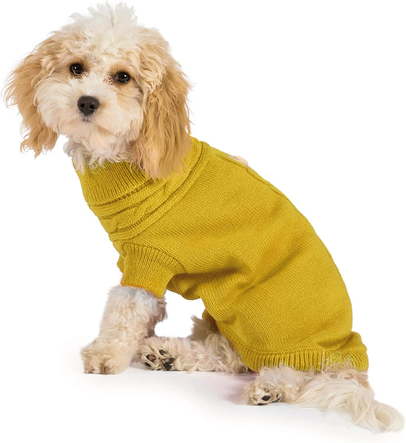 Muddy Paws Cable Knit Dog Jumper Grey 40cm