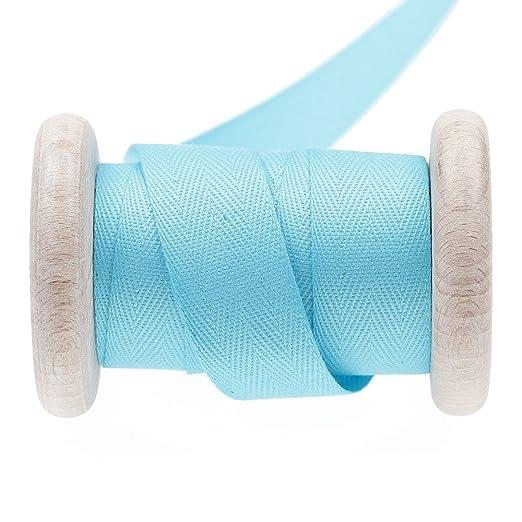 Cinta algodón sarga al metro - azul River, algodón, azul, 20 mm ...