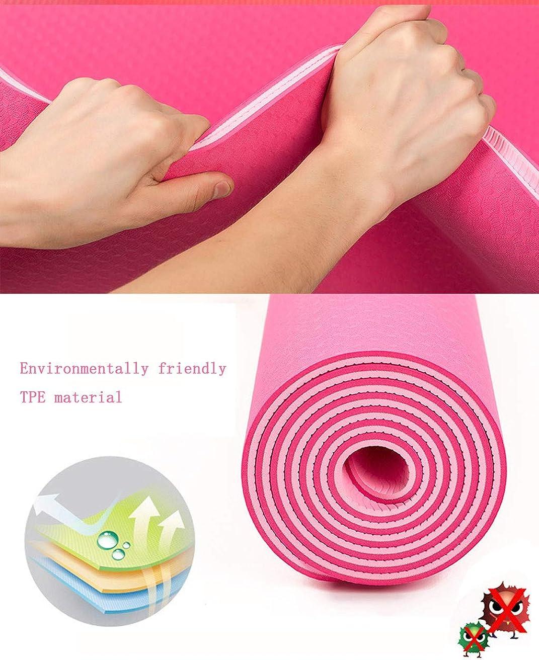 Tapis De Yoga Classic Pro Tapis De Yoga Tpe Tapis DExercice Antid/éRapant /éCologique MORETIME Fitness