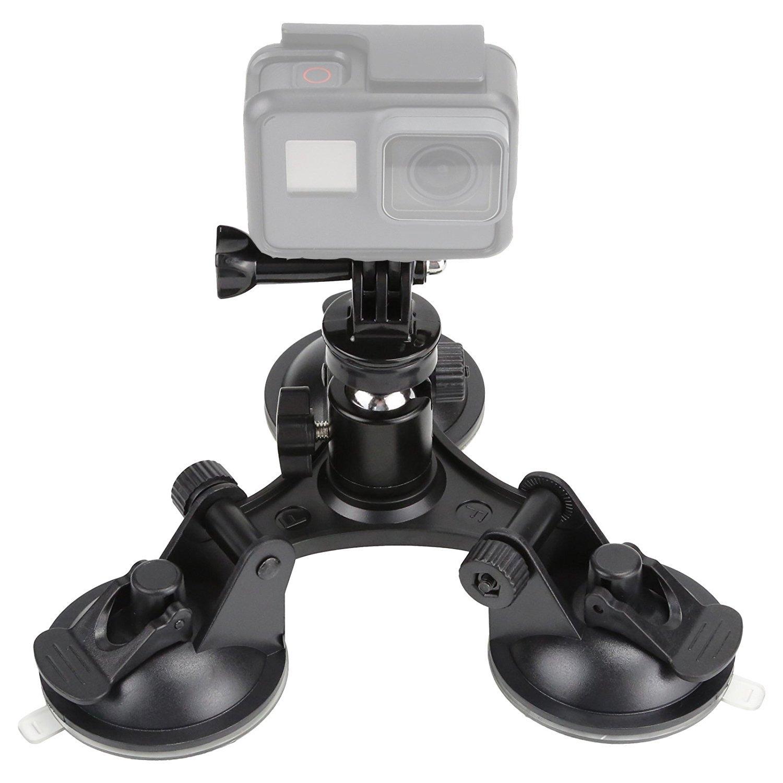 TEKCAM Action Camera Suction Cup Mount Car Mount Holder for Gopro Hero 6 5 / AKASO EK7000 / Pictek / APEMAN / Vtin 4k 1080p Waterproof Sports Camera