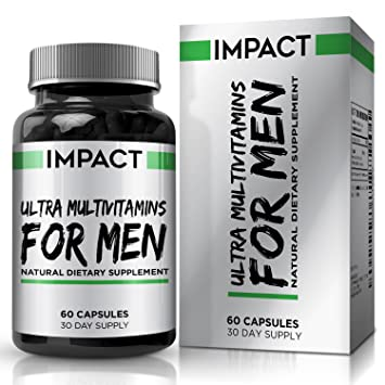 Multivitamínico para Hombres – Vitaminas, Antioxidantes y Minerales Esenciales con Betacaroteno, Bueno para el