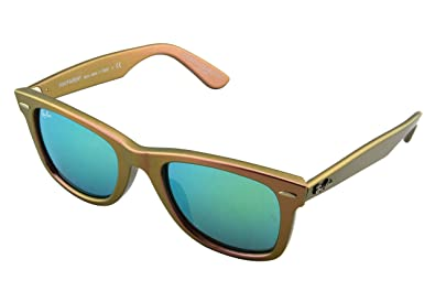 7d563c212d474 Image Unavailable. Image not available for. Color  Ray-Ban Metallic Wayfarer  Sunglasses in Pink Grey Green Mirror