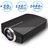 Led Projector, Vamvo 2200Lux Home Theater Movie Projector LED Source Video Projector Supported 1080P Portable Projector Compatible with Fire TV Stick,HDMI/VGA/USB/SD 2018 New Version (Black)