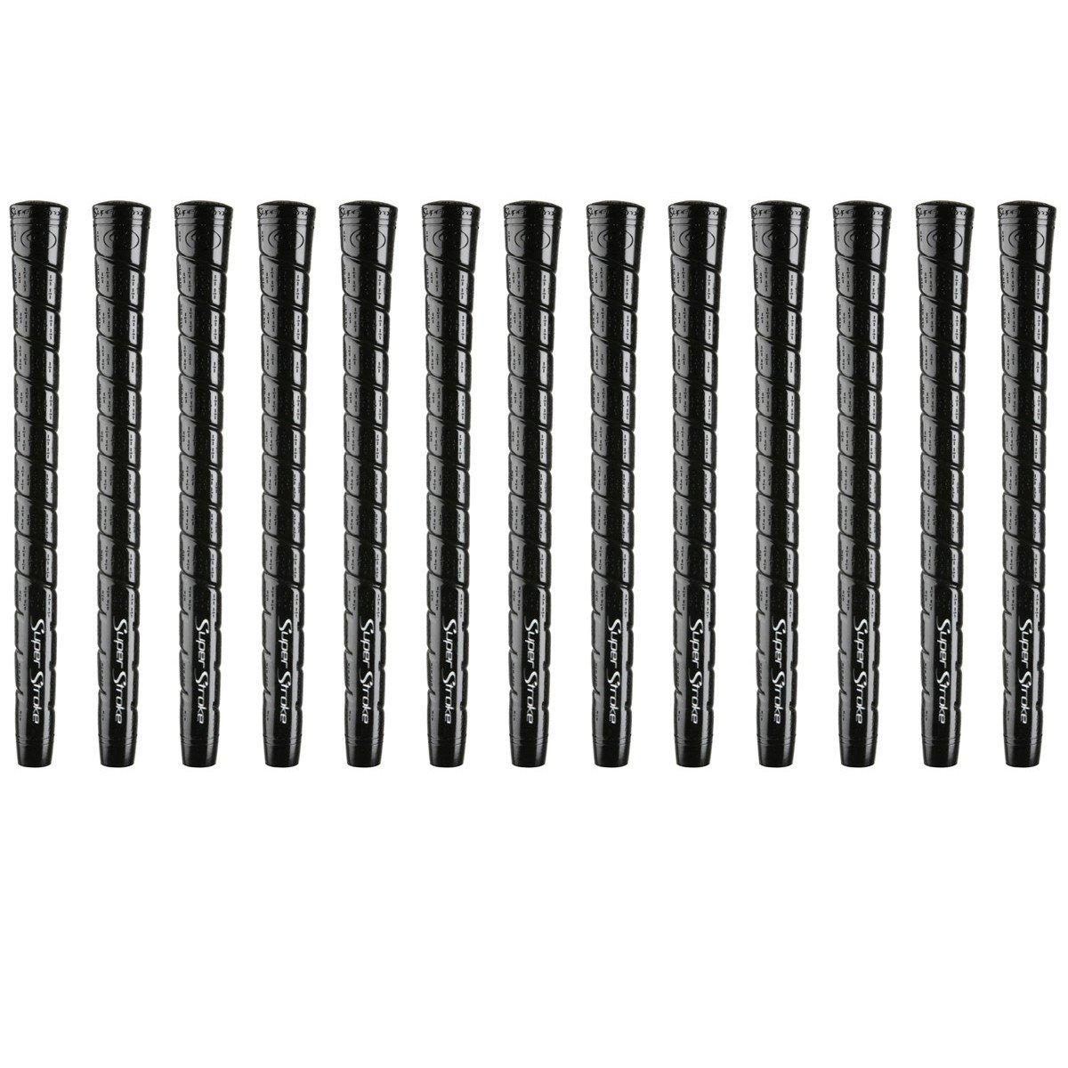SuperStrokeソフトラップTC Midsizeブラック – 13 Pieceゴルフグリップバンドル B07CW38K3Y