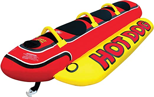 Airhead Hot Dog | 1-5 Rider Towable Tube for Boating best towable raft