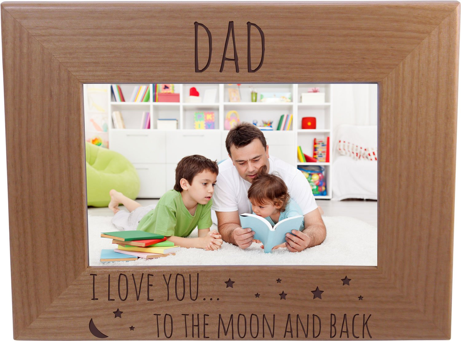 Amazoncom Dad I Love You To The Moon And Back 4x6 Inch Wood