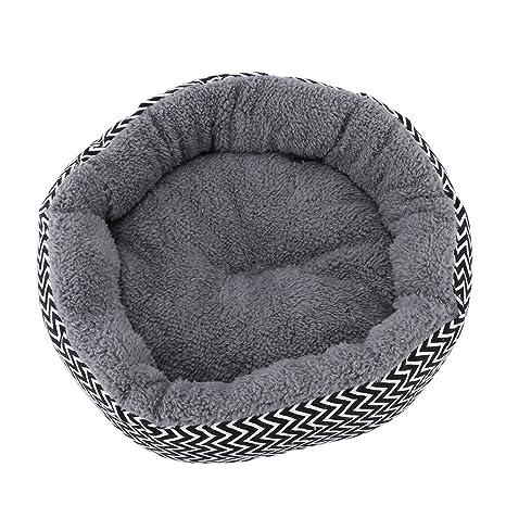 Estink Cama redonda para mascotas para gatos y perros, suave y cálida, lavable,