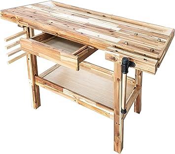 Olympia Tools 48 Inch Hardwood Workbench 330lbs Weight Capacity 88 128 917 Amazon Com