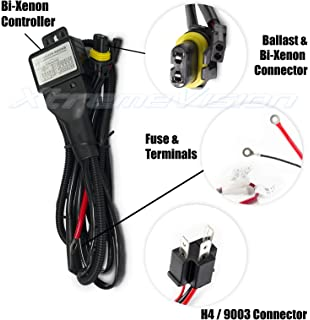 Magnificent Amazon Com 35W 12V Hid Xenon H4 9003 Hi Lo Controller Relay Harness Wiring Database Gramgelartorg