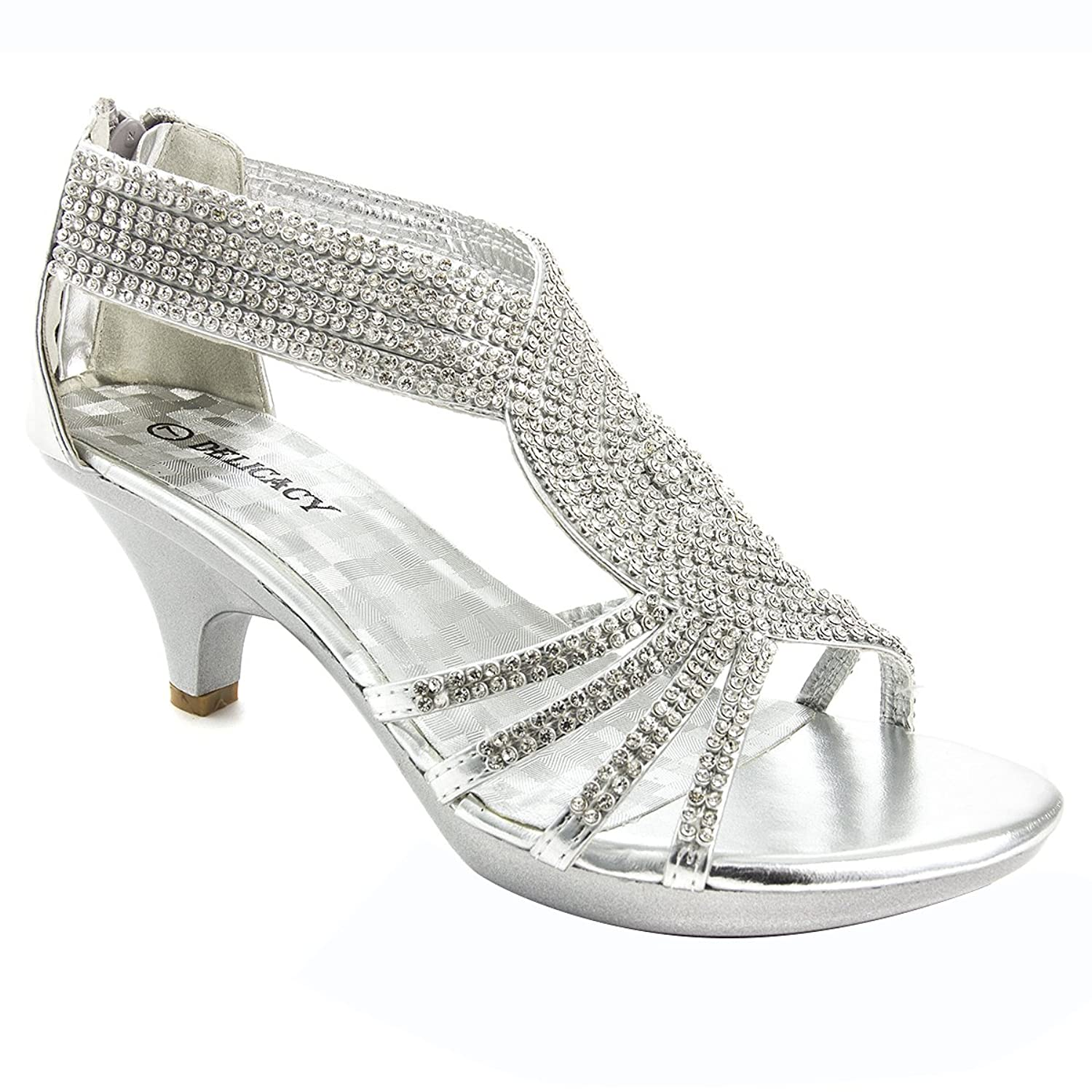Amazon.com | V-Luxury Womens Open Toe Med Heel Wedding Sandal ...