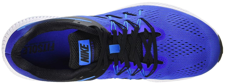 Nike Zoom Winflo 3, Chaussures de Running Entrainement Homme, Azul (Racer Blue/Blue Glow-Black-White), 42 EU