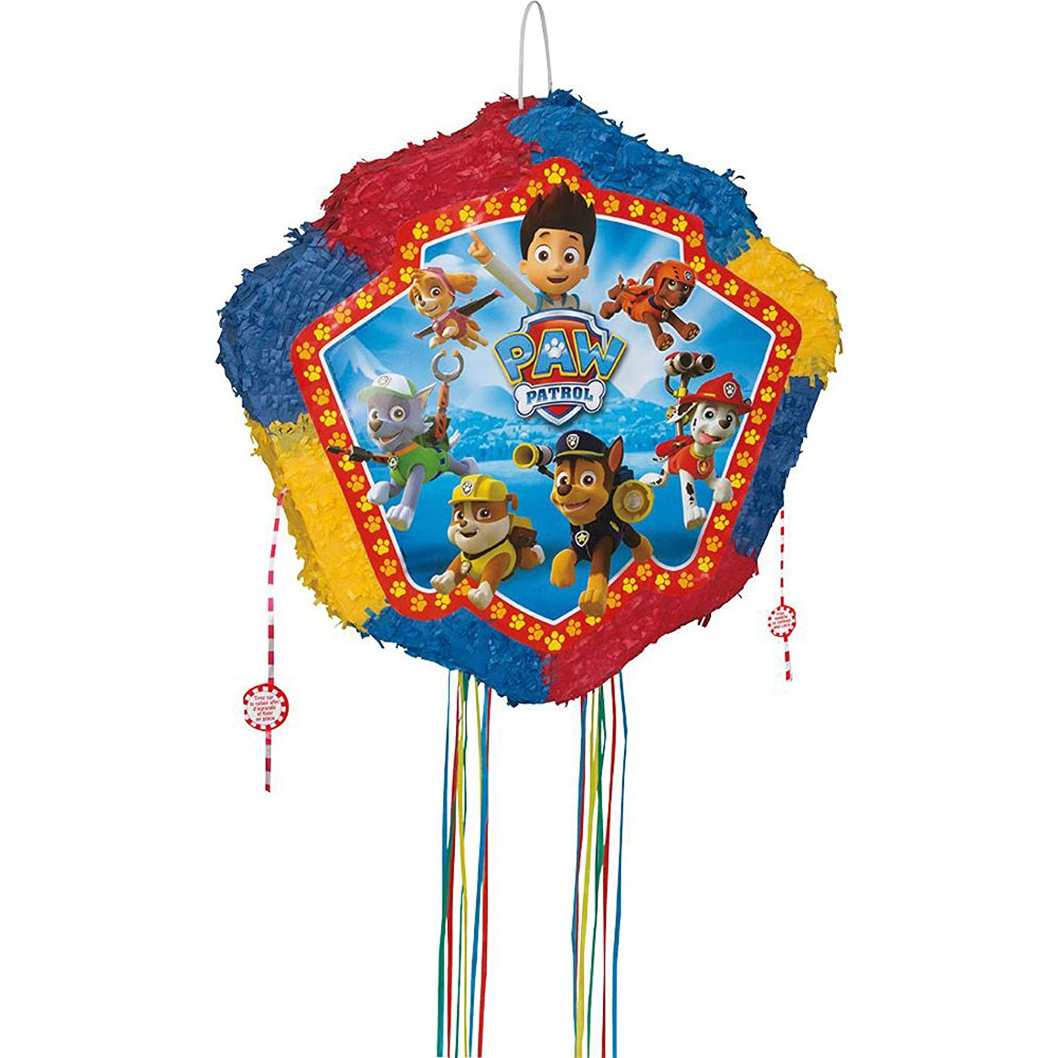 Amazon.com: Paw Patrol tambor pop-out Piñata (cada uno ...