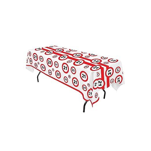 TrendClub100® Mantel de cumpleaños (270 x 136 cm), diseño de ...