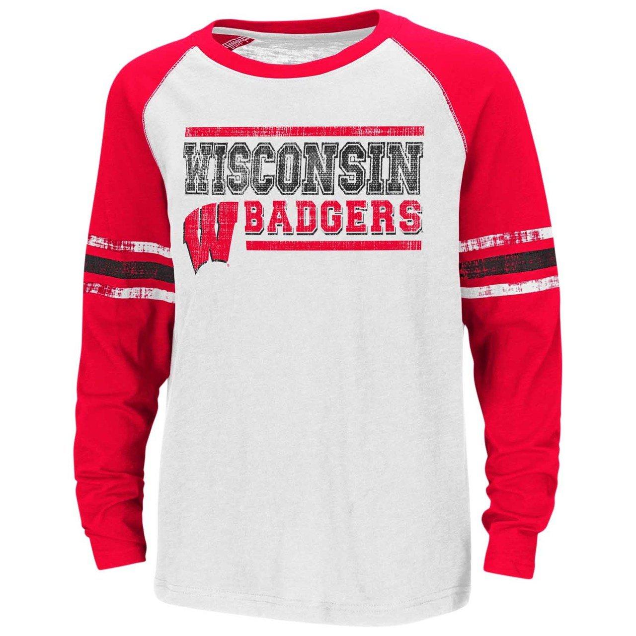【即日発送】 Wisconsin Badgers Tシャツ B0768NDVNH Youthコロシアム大理石バッグラグランL/ S Tシャツ Badgers X-Large B0768NDVNH, 健康一番館:aea1351a --- narvafouette.eu