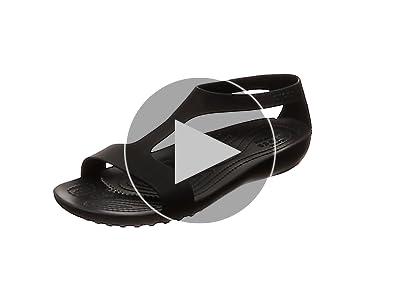 Zehentrenner SANRAH METALBLOCK FLAT FLIP black CROCS