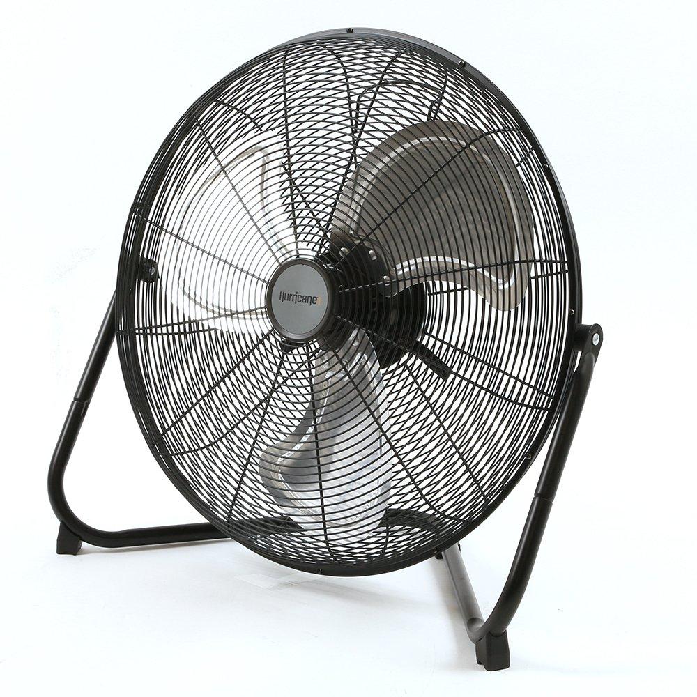 Hurricane HGC736476 Pro Series High Velocity Metal Floor Fan 20 Black