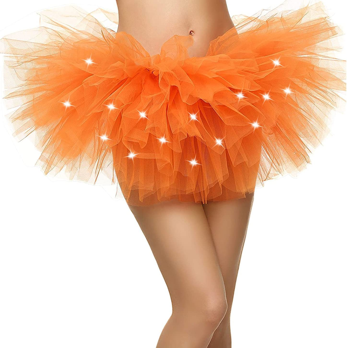 Women's LED Light Up Neon Tulle Tutu Skirt