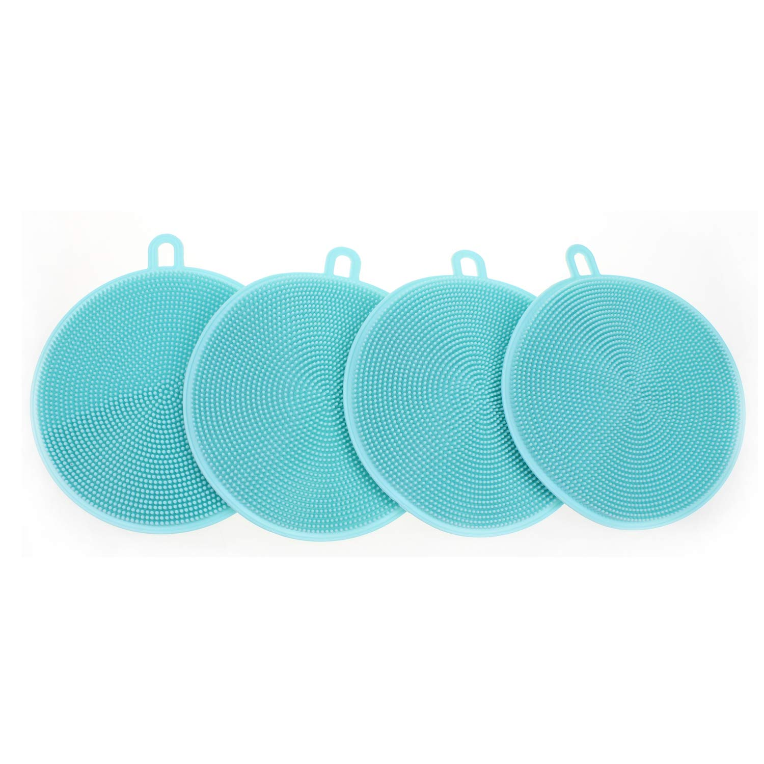 Silicone Dish Sponge Cleaner Silicone Scrubber For Kitchen Non Stick Dishwashing /& Baby Care Sponge Brush Household Health Silicone Washing Cleaning Sponges Antibacterial Mildew-Free Brushes Blue