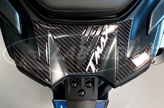 2 autocollants en r/ésine Tmax 530 adh/ésifs 3D bandes pour Yamaha T max 2012 compatibles Noir