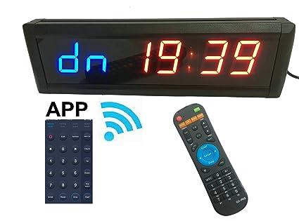 """ganxin app-control 1,8 """"alta 6 dígitos LED reloj de cuenta"""