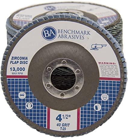 Neiko 11142A Premium Zirconia Flap Disc 40 Grit 4.5 x 7//8-Inch Bevel Type #29-10 Pack