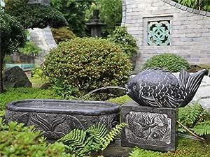 Yajutang - Fuente de piedra natural para jardín: Amazon.es: Jardín